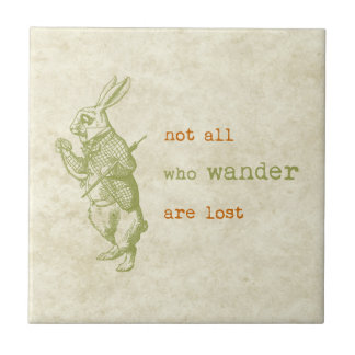 White Rabbit, Alice in Wonderland Tile