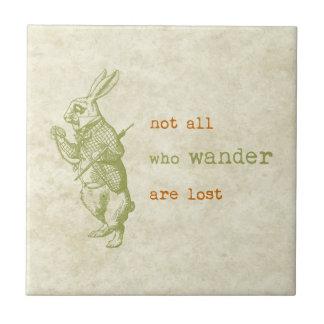 White Rabbit, Alice in Wonderland Tile