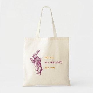 White Rabbit, Alice in Wonderland Tote Bag