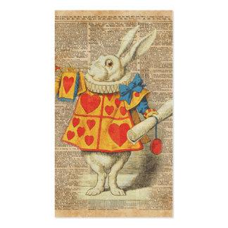 White Rabbit Alice in Wonderland Vintage Artwork Business Card
