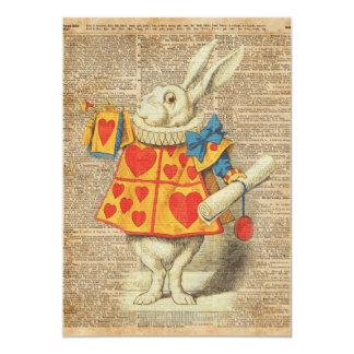 White Rabbit Alice in Wonderland Vintage Artwork Card