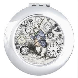 White Rabbit Alice Time Vanity Mirror