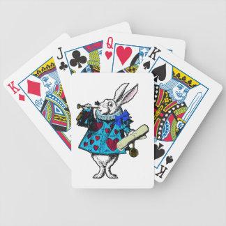 White Rabbit Alice Wonderland Deck Playing Cards Poker Cards