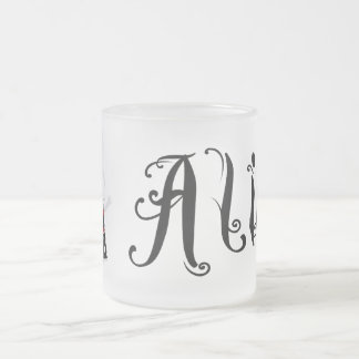 White Rabbit - Alice's Adventures in Wonderland Frosted Glass Coffee Mug
