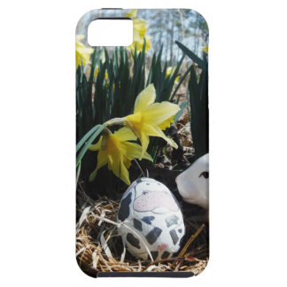 White rabbit and cow egg iPhone 5 cases