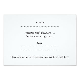White Rabbit and Flower. 3.5x5 Paper Invitation Card