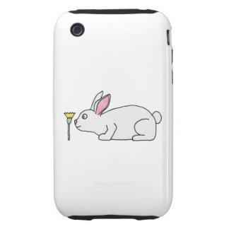 White Rabbit and Flower. iPhone 3 Tough Case