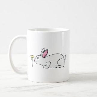 White Rabbit and Flower. Mugs