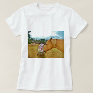 White Rabbit and Yellow Horse T-Shirt