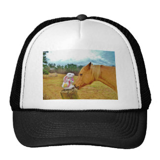 White Rabbit and Yellow Horse Trucker Hat