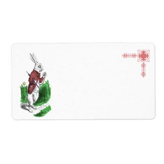White Rabbit Avery Label