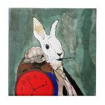 white rabbit azulejos