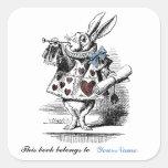 White Rabbit Bookplate Sticker