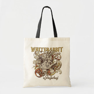 White Rabbit Carnivale Style (Gold Version) Canvas Bags