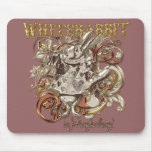 White Rabbit Carnivale Style (Gold Version) Mouse Pad
