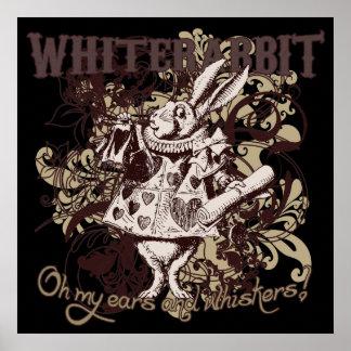White Rabbit Carnivale Style Poster