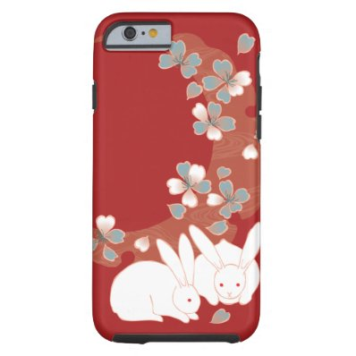 White Rabbit Cute Girly Vintage Fine Art Tough iPhone 6 Case