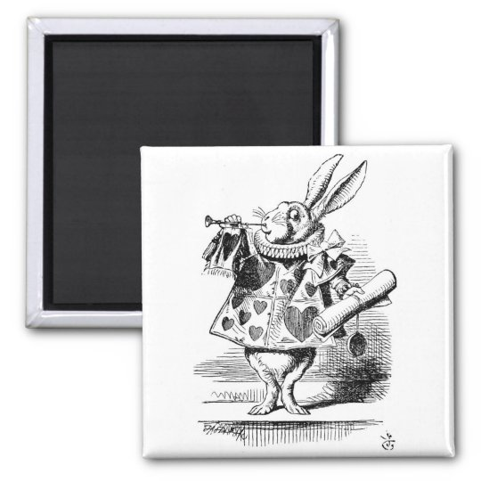 White Rabbit dressed as Herald Magnet