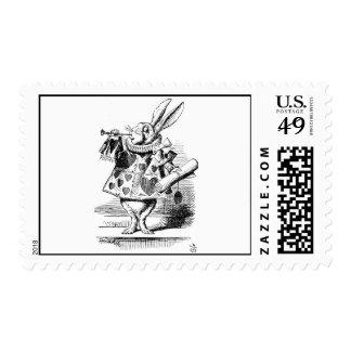 White Rabbit dressed as Herald Stamp