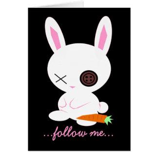 White Rabbit - Easter Bunny  card
