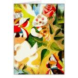 White Rabbit Easter Bunny Spring Art Blank inside Card