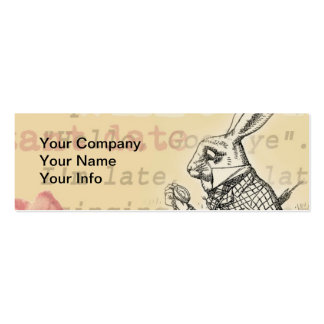 White Rabbit from Alice in Wonderland Business Card Templates