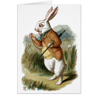 White Rabbit from Alice in Wonderland Card