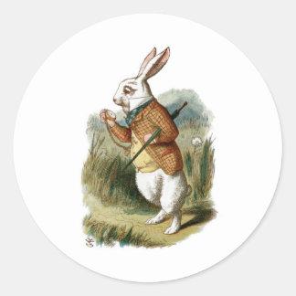 White Rabbit from Alice in Wonderland Classic Round Sticker