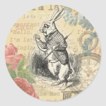 White Rabbit from Alice in Wonderland Classic Round Sticker
