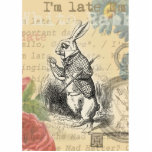 """White Rabbit from Alice in Wonderland Cutout<br><div class=""""desc"""">Alice in Wonderland&#39;s White Rabbit is an endearing character from the 1865 book by Lewis Caroll, Alice&#39;s Adventures in Wonderland. The white rabbit is very concerned with the time. &quot;I&#39;m late, I&#39;m late … &quot; is what he says over and over. Our gift is based on the original book&#39;s image,...</div>"""