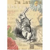 White Rabbit from Alice in Wonderland Cutout