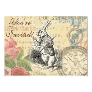 White Rabbit from Alice in Wonderland 4.5x6.25 Paper Invitation Card