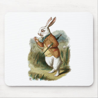White Rabbit from Alice in Wonderland Mouse Pad