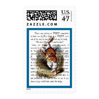 White Rabbit from Alice in Wonderland Postage