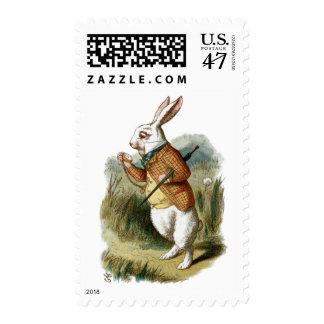 White Rabbit from Alice in Wonderland Postage Stamp