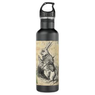 White Rabbit from Alice in Wonderland Stainless Steel Water Bottle