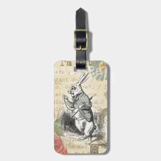 White Rabbit from Alice in Wonderland Tag For Luggage
