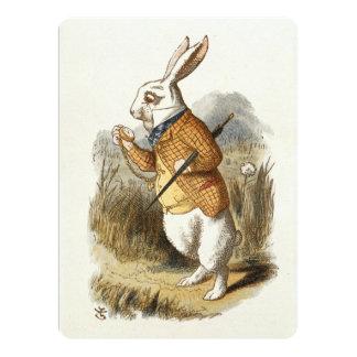 White Rabbit from Alice In Wonderland Vintage Art Card