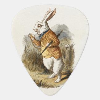 White Rabbit from Alice In Wonderland Vintage Art Guitar Pick