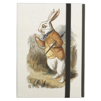 White Rabbit from Alice In Wonderland Vintage Art iPad Air Cases