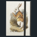 "White Rabbit from Alice In Wonderland Vintage Art iPad Air Cover<br><div class=""desc"">The White Rabbit from Alice In Wonderland Vintage Art Colorized version by Sir John Tenniel. The White Rabbit is a fictional character in Lewis Carroll&#39;s book Alice&#39;s Adventures in Wonderland. He appears at the very beginning of the book, in chapter one, wearing a waistcoat, and muttering &quot;Oh dear! Oh dear!...</div>"