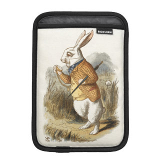 White Rabbit from Alice In Wonderland Vintage Art iPad Mini Sleeves