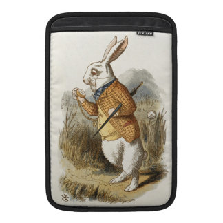 White Rabbit from Alice In Wonderland Vintage Art MacBook Air Sleeve