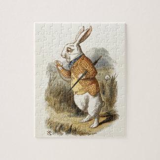 White Rabbit from Alice In Wonderland Vintage Art Puzzle