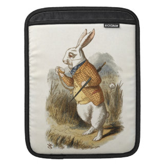 White Rabbit from Alice In Wonderland Vintage Art Sleeves For iPads