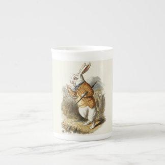White Rabbit from Alice In Wonderland Vintage Art Tea Cup