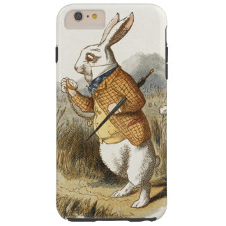 White Rabbit from Alice In Wonderland Vintage Art Tough iPhone 6 Plus Case