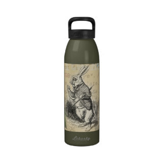 White Rabbit from Alice in Wonderland Drinking Bottles