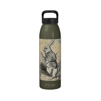White Rabbit from Alice in Wonderland Water Bottle