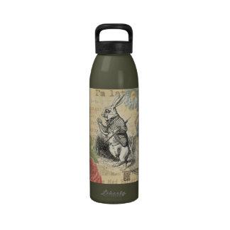 White Rabbit from Alice in Wonderland Reusable Water Bottles